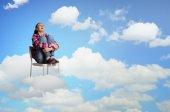 Woman in heaven — Foto de Stock