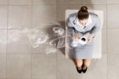 Businesswoman on chair — Stock Photo