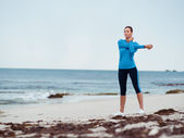 Warming up before a good run — Foto Stock
