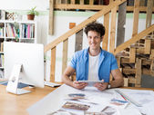Design professional at work — Stock Photo