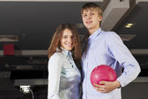 Weekend at bowling — Stock Photo