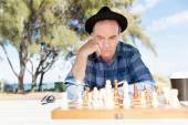 Thinking chess strategy — Fotografia Stock