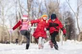 冬のアクティビティ — ストック写真