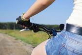 Summer bike walk — Stock Photo