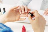 In nail salon — Stock Photo