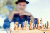 Thinking chess strategy — Foto de Stock