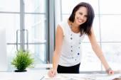 Donna moderna di affari successo — Foto Stock