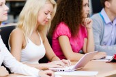 Students at lesson — Stock Photo