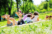 Picnic in garden — Foto de Stock