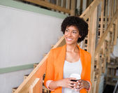 Portrait of young businesswoman — Stock Photo
