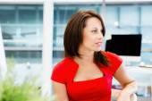 Modern successful business woman — Stock Photo