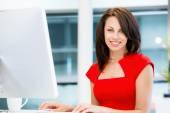 Mulher de negócios bem sucedido moderno — Fotografia Stock