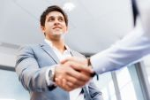 Handshake of businessmenoncepts - soft focus — Stock Photo