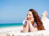 Beautiful day on the beach — Stock Photo