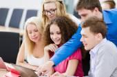 Students at lesson — Fotografia Stock
