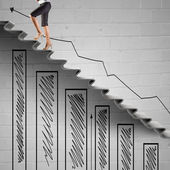 Up the career ladder — Stock Photo