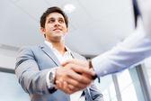 Handshake of businessmenoncepts - soft focus — Stock Photo