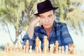 Thinking chess strategy — Stock Photo