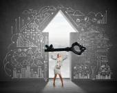 Find key to success — Stock Photo