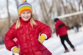 Winter activity — Stock Photo