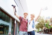 Young couple posing for a photo — Stock Photo