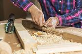 Carpenter at work — Stock Photo