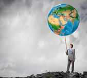 Wereld is de mijne — Stockfoto