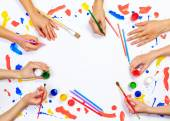 Painting and drawing hobby — Stock Photo