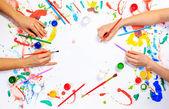 Boyama ve çizim hobi — Stok fotoğraf