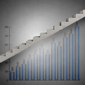 Ladder of growth — Stock Photo