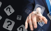 Finger touching icon — Stock Photo