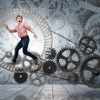 To turn as squirrel in wheel — Stock Photo #83529828