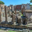 Archaeological excavations of ancient buildings in the center of Rome — Stock Photo #79166264