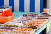 Market chineese vegetables rack — Stock Photo