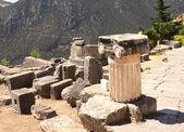 Ancient column in Delphi, Greece — Stock Photo