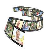 Family photos on filmstrip — Stock Photo