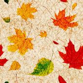 无缝垃圾背景与飞行秋叶之静美 — 图库照片