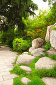 Ornamental garden next to Giant Wild Goose Pagoda, Xian, China — Stock Photo