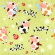 Seamless background with cute cows — Stock Photo #65038155