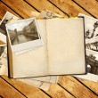 Old book and photos — Stock Photo #65038493