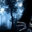 Monster in night forest — Stock Photo #65767533