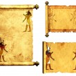 Set of scrolls with Egyptian gods images - Anubis and Horus — Stock Photo #66943475
