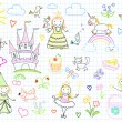 Vector sketches with princesses and fairy — Stock Vector #67792149