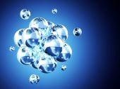 抽象的分子结构 — 图库照片