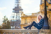 Young romantic girl in Paris — Stock Photo