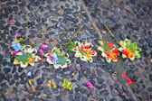 Traditional balinese offerings to gods — Stok fotoğraf