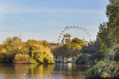 View of London Eye from St. James park — Stock Photo