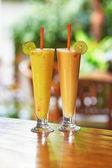 Two delicious fresh juices — Stock Photo