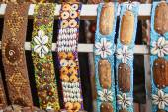 Colorful bracelets on market in Ubud, Bali — Stock Photo