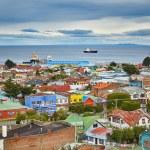 Punta Arenas with Magellan Strait in Patagonia — Stock Photo #58639977